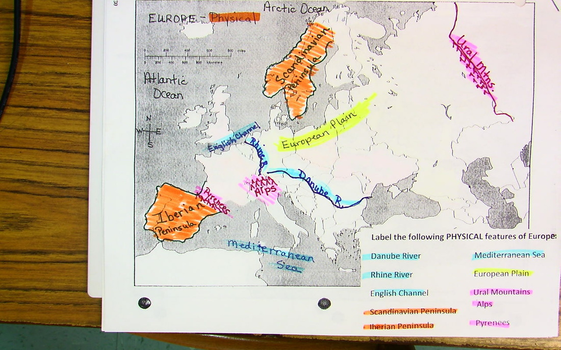 Europe Maps 1 in Notebook due Friday Sept 2nd FCMS